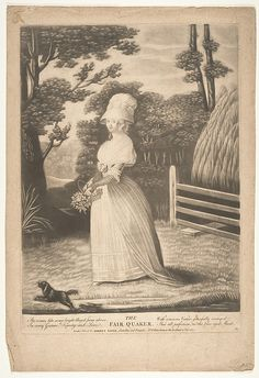 The Fair Quaker by R. Sayer after Anonymus 1787 Mezzotint