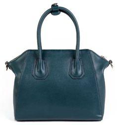 VIVILLI Designer Inspired Shine Leather Structured Satchel Shopper
