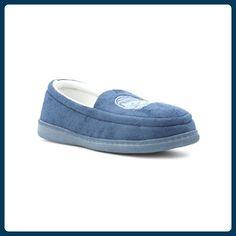 The Slipper Company - Blauer gestickter Katze-Mokassin Pantoffeln der Frauen - Größe 9 UK / 43 EU - Blau - Hausschuhe für frauen (*Partner-Link)