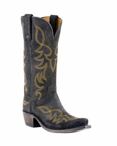 normally not a huge yellow fan...but the stitching looks great on the weathered black http://www.countryoutfitter.com/products/27574-black-wax-comanche-boot-womens #cowgirlboots
