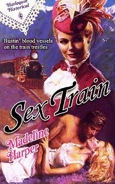 Romantic & erotic book covers with trains