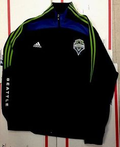 Adidas Seattle Sounders FC XL Zip-Up Track Jacket Stitched Patch