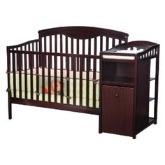 When we saw the Delta Shelby Classic Crib and Changing Table she immediately fell in love with this crib and it's price!