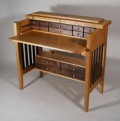 Fly tying desk, though I don't fly fish. - Fly tying desk, though I don't fly fish. Wood Projects, Woodworking Projects, Fly Tying Desk, Fly Fishing Gear, Fishing Tricks, Fishing Rods, Fishing Tackle, Custom Design, Storage