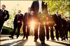 I can't get enough of this amazing groomsmen photo! I wouldn't cut the head off the groom though...