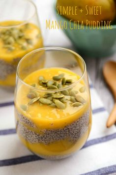 Simple and Sweet Mango Chia Pudding