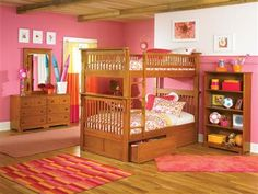 Colorado Bunk Bed Twin Over Twin w 2 Flat Drawers in a Caramel Latte
