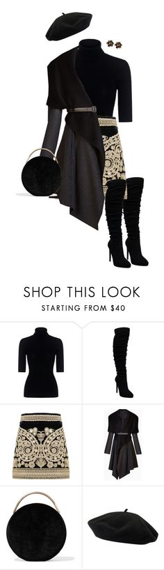 """""""Paris"""" by ccoss on Polyvore featuring Theory, For Love & Lemons, BCBGMAXAZRIA, Eddie Borgo, Goorin and Chantecler"""