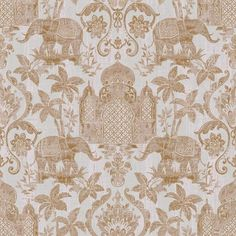 The wallpaper Indo Chic - from Galerie is a wallpaper with the dimensions m x m. The wallpaper Indo Chic - belongs to the popular wallpa Trellis Wallpaper, Chic Wallpaper, Gold Wallpaper, Wallpaper Roll, Antique Wallpaper, Galerie Wallpaper, Elephant Wallpaper, Triangle House, Copper And Grey