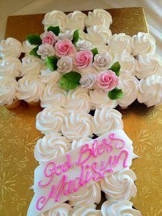 baptism cupcake cross - Google Search