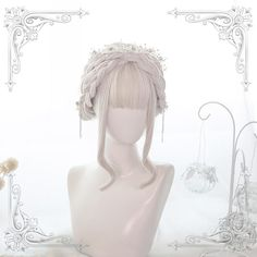 Product ID: Material: High Temperature Fiber Cap Size: Average Size (adjustable) Wigs Length: 55 cm Hair Density: Medium Hairline: Natural Color: White Cosplay Hair, Lolita Cosplay, Cosplay Wigs, Double Ponytail, Ponytail Wig, Braid Bangs, Kawaii Hairstyles, Wig Hairstyles, Beach Hairstyles