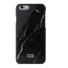 Black Clic Marble iPhone 6 Case - All - Oliver Bonas ($92) ❤ liked on Polyvore featuring accessories and tech accessories