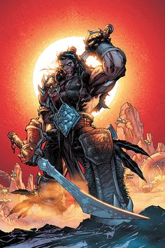 Lo'Gosh by Jim Lee (from World of Warcraft). Never played WoW but it's Jim Lee - what else is there to know?