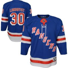 NHL Youth New York Rangers Henrik Lundqvist Premier Home Jersey Hockey, Henrik Lundqvist, Nhl News, Nhl Jerseys, Vancouver Canucks, Personal Defense, New York Rangers, Team Logo, Funny