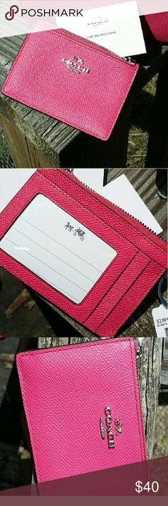 Coach mini skinny zip ID nwt Coach mini skinny zip ID nwt 4 1/2 L x 3 1/4 H. F52394 Coach Bags Wallets