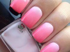 manucure-ombré-manucure-en-rose-et-blanc-ongles-dégradés