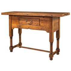 MacKenzie-Dow English Pub Counter Height Flip-Top Console Table with Drawer MD-1-5311