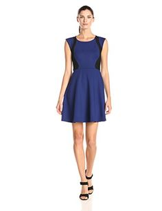 French Connection Women's Whisper Light Colorblock Fit and Flare Dress, Black/Maya Blue, 4 French Connection http://www.amazon.com/dp/B00Q6P09Q8/ref=cm_sw_r_pi_dp_Z7A-ub06ZJB0Q