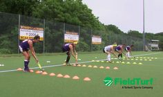 Touches & Checks │ Cone Drill │ Field Hockey Training with Amy Cohen
