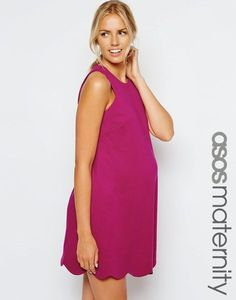 Find the best selection of ASOS Maternity Swing Dress with Scallop Hem. Shop today with free delivery and returns (Ts&Cs apply) with ASOS! Asos Maternity, Maternity Tops, Maternity Dresses, Maternity Fashion, Maternity Clothing, Maternity Style, Maxi Dresses, Pregnancy Wardrobe, Pregnancy Outfits