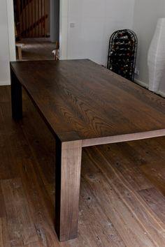 eine ma geschneiderte tabelle gefertigt aus massivholz eiche farbe gewachst nat rlichen 200 x. Black Bedroom Furniture Sets. Home Design Ideas