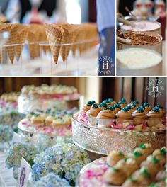 Decorate your dessert table with hydrangeas http://www.bridesign.com/Hydrangea_5!  Justin & Mary ~ Photography