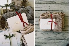 Winter wedding-- thank your wedding party with cozy blankets.