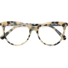 Stella McCartney 'Havana' glasses (€185) ❤ liked on Polyvore featuring accessories, eyewear, eyeglasses, tortoise eyeglasses, tortoiseshell glasses, acetate glasses, cat eye eyeglasses and cateye eyeglasses