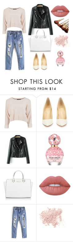 Are you fancying a spring clean inspired look for your wardrobe? by anyaaa04 on Polyvore featuring Christian Louboutin, Michael Kors, Bare Escentuals, Lime Crime and Marc Jacobs