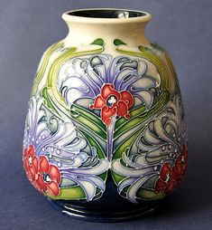 Moorcroft Pottery Florian Lilac 198/5 Rachel Bishop http://www.bwthornton.co.uk/moorcroft.php