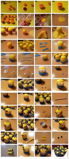Fondant - despicable me - minions - cake -  tutorial