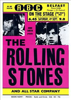 Vintage Music Art Poster - The Rolling Stones - 0351 – The Vintage Music Poster Shop Vintage Concert Posters, Vintage Posters, Rock N Roll, Rolling Stones Tour, Star Company, Tour Posters, Band Posters, Thing 1, Rock Concert