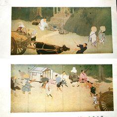 Vintage Japanese Print spring water at station by VintageFromJapan