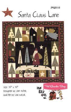 Santa Claus Lane Wall Hanging Pattern Jan Patek Quilts - Fat Quarter Shop
