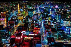 札幌の夜景(北海道) Night view of Sapporo, Hokkaido, Japan