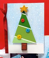 Angela Sgro Designs: Paint Chip Tree Cards
