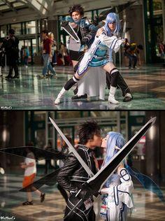 Asuna and Kirito #cosplay - Sword Art Online   Anime Expo (AX) 2013