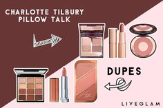 Drugstore Dupes for Trending Makeup Charlotte Tilbury Pillow Talk Dupe Maquillage Charlotte Tilbury, Charlotte Tilbury Dupe, Charlotte Tillbury, Eyeshadow Dupes, Lipstick Dupes, Mac Dupes, Lipstick Colors, Charlotte Tilbury Pillow Talk, Blush Dupes