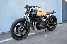 """Honda CB750F Brat Style """"Mean Mister Mustard"""" by Seaweed & Gravel #motorcycles #bratstyle #motos 