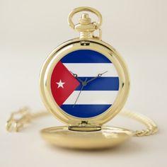 Cuba Flag Pocket Watch - gift idea custom