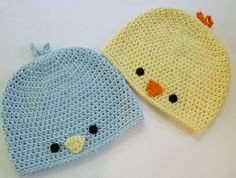 Crochet For Children: Baby Chick or Baby Bird Hat - Free Pattern
