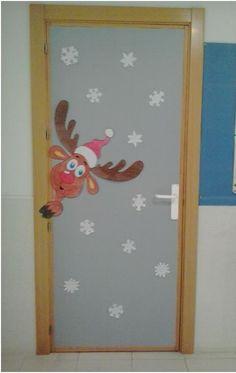 Puerta de invierno del aula de Primaria. Cole Monterrubio de Armuña (Salamanca)
