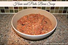 Whole Food Mom on a Budget: Crock Pot Ham and Pinto Bean Soup