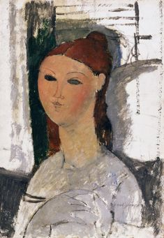Portrait of a young woman, seated Maker: Modigliani, Amedeo; Italian artist, Category: painting Name: painting Date: circa 1915 Amedeo Modigliani, Italian Painters, Italian Artist, Karl Schmidt Rottluff, Edvard Munch, Art Moderne, Art Uk, Oeuvre D'art, Painting & Drawing