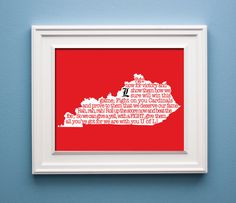 Louisville  Fight Song Print by KenmoreHouse on Etsy, $12.00