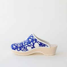 Clogs Blueberry - Talla Walk On, Timeless Design, Clogs, Blueberry, Blue And White, Pairs, Unisex, Lady, Heels
