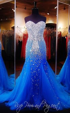 Royal Blue Crystals Mermaid Luxury Prom Dresses Sweetheart Neck Tulle Pageant Dresses _Evening Dresses Dresses_Special Occasion Dresses_Buy High Quality Dresses from Dress Factory Royal Blue Prom Dresses, Prom Dresses 2015, Formal Evening Dresses, Pageant Dresses, Formal Gowns, Evening Gowns, Dress Prom, Maxi Dresses, Dress Outfits