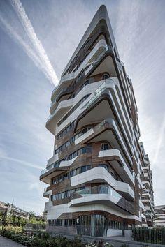 """פרויקט המגורים של זהה חדיד ודניאל ליבסקינד במילאנו (צילום: יח""""צ, יח""""צ)"""