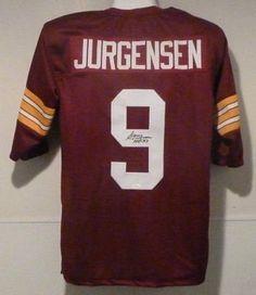 Sonny Jurgensen Autographed Washington Red Size XL Jersey w  hof 8b3c50753