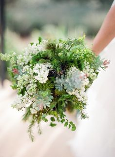 Love the shape and the greens- would look amazing with bright garden flowers